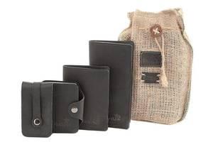 Отличный набор из кожаных аксессуаров SHVIGEL 10080, Черный
