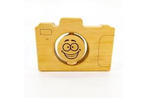 Погремушка прорезыватель фотоапарат Мастерская мистера Томаса 14смх9см Дерево