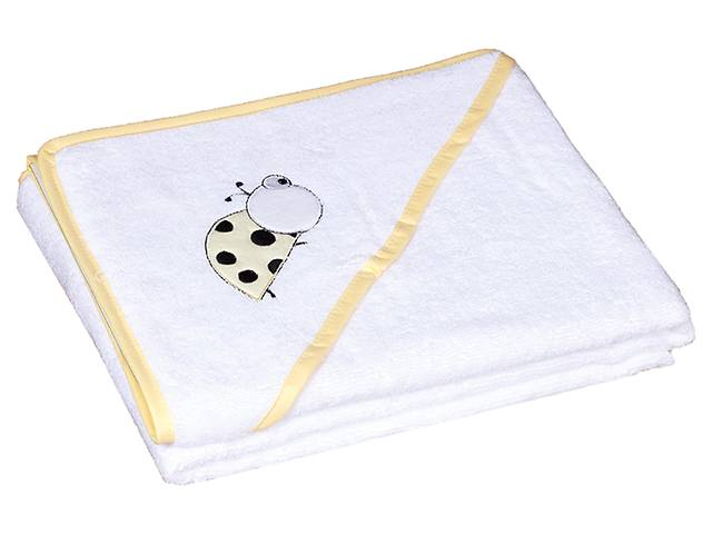 Полотенце Baby Nito BN-100 100x100  белый (божья коровка)- объявление о продаже  в Одессе