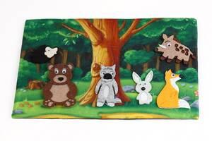 """Детская развивающая игра с фетра """"Лесные обитатели"""" PF-010, 6 животных"""