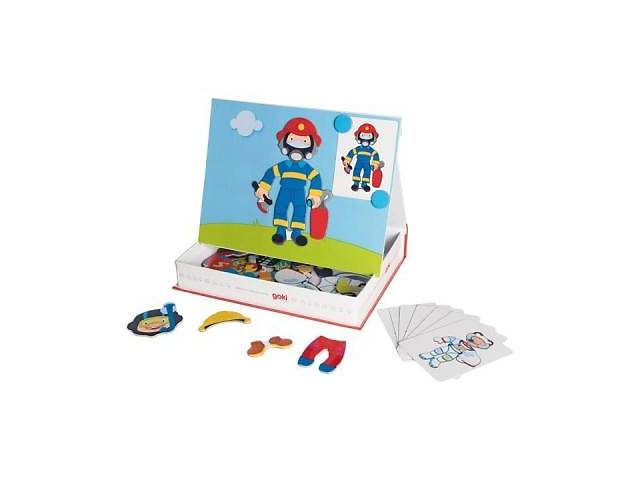 купить бу Развивающая игрушка Goki Магнитная книга Наряды для мальчика (58741G) в Харькове