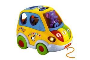 Развивающая игрушка машинка-сортер Автошка Limo Toy JT 9198 на русском языке Желтая (int_Limo Toy 9198)