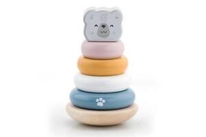 Развивающая игрушка Viga Toys Пирамидка PolarB Белый медведь (44005)