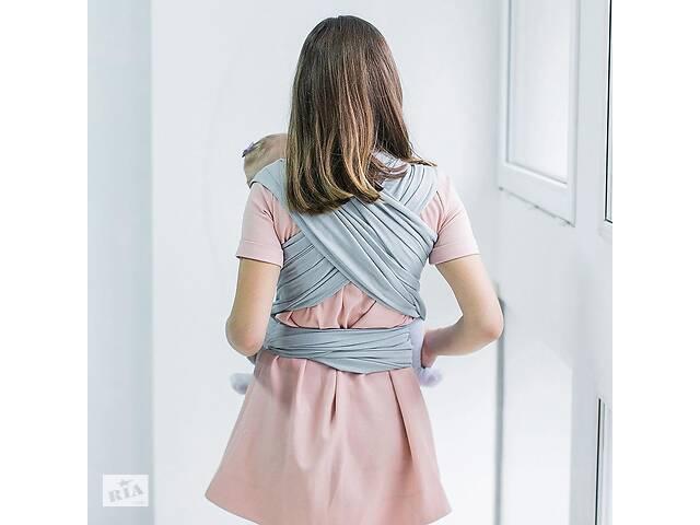 Слинг - шарф для ребенка с зауженными концами Love & Carry, серый- объявление о продаже  в Киеве