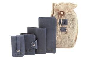 Стильный набор кожаных аксессуаров SHVIGEL 10075, Синий