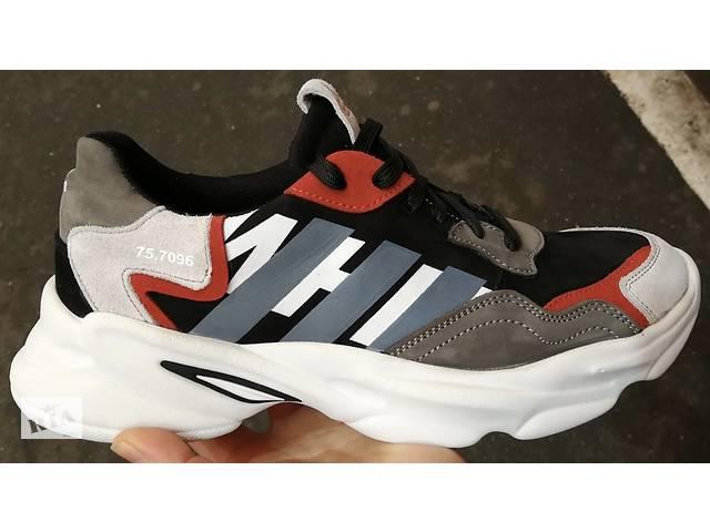 купить бу Светлые! Adidas AW стильные  кожаные мужские кроссовки адидас белые в Харькове