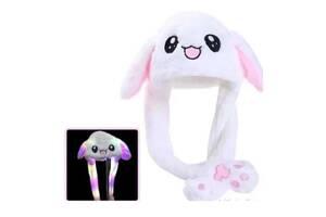 Светящаяся шапка Pikachu toys soft toys with led с двигающими ушками белая SKL11-278723