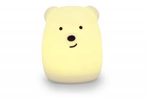 Силиконовый ночник Click Медведь ночные зверята детский 11 см SKL17-223469