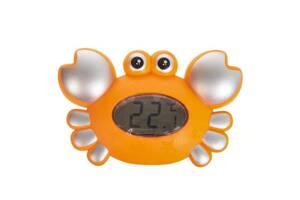 """Термометр-игрушка для ванной Metr+ """"Краб"""" со звуковыми эффектами, оранжевый"""