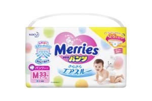 Трусики-подгузники для детей от 6 до 11 кг Merries Pants M 33Pcs, 33 шт