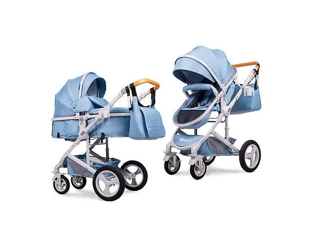 купить бу Универсальная коляска трансформер  2в1 Ninos Brava Light Blue в Одессе