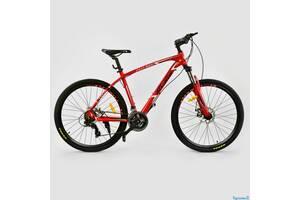 Велосипед Спортивный CORSO 27,5 дюйма JYT 008-7201 ATLANTIS рама алюминий 24 скорости красный