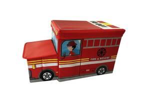 Ящик-пуф для игрушек Baby Comfort Пожарная машина