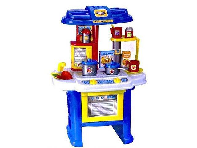 купить бу Игровой детский набор Кухня маленькой хозяюшки Bambi с посудой, синяя в Киеве