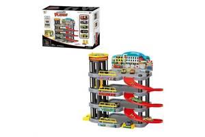 Игровой набор гараж паркинг PlaySet P 8988 A-6 на четыре уровня с пятью машинками в комплекте