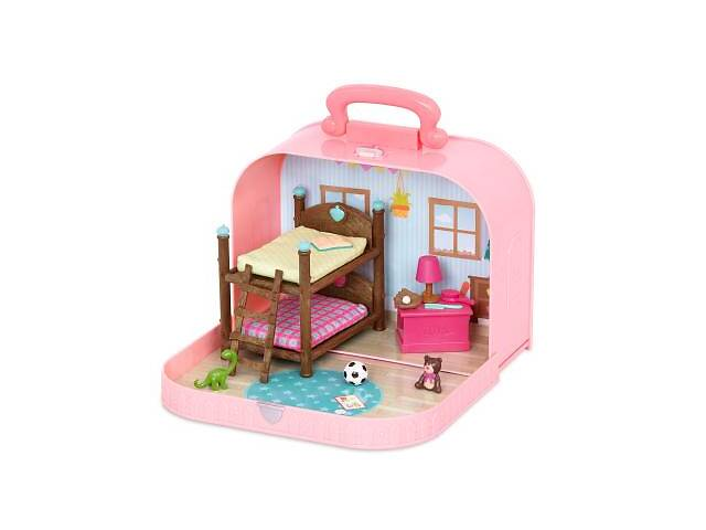 бу Игровой набор Li'l Woodzeez Кейс розовый, Двухэтажная кровать с аксессуарами (WZ6597Z) в Харькове