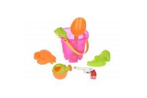 Игрушка для песка Same Toy 6 ед.Ведерко розовое (882Ut-2)