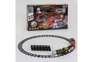 Железная дорога для мальчика с дымовыми, звуковыми и световыми эффектами 3052 (18 элементов)