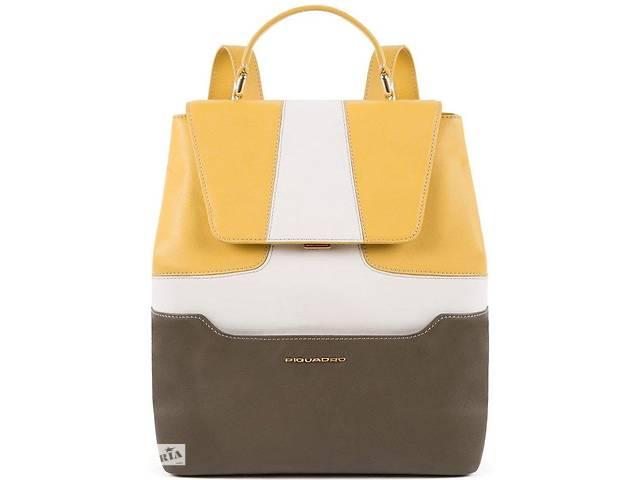 Женский кожаный рюкзак Piquadro Hosaka желтый на 9л- объявление о продаже  в Киеве