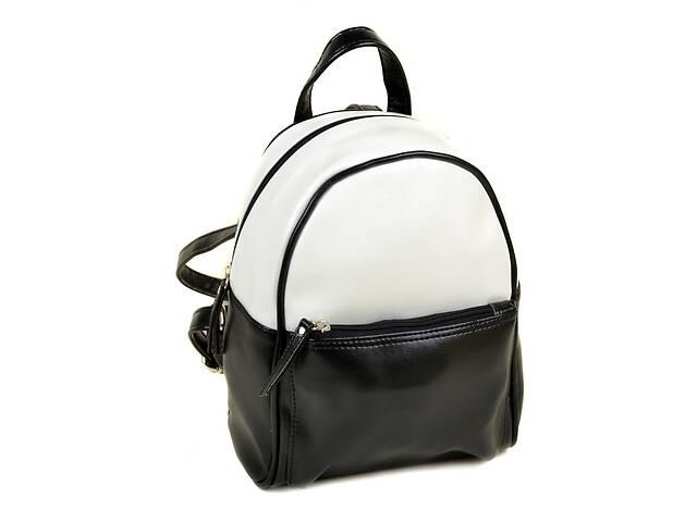 Женский рюкзак из искусственной кожи М 124 Z-ka/79 5 л черно-белый- объявление о продаже  в Киеве