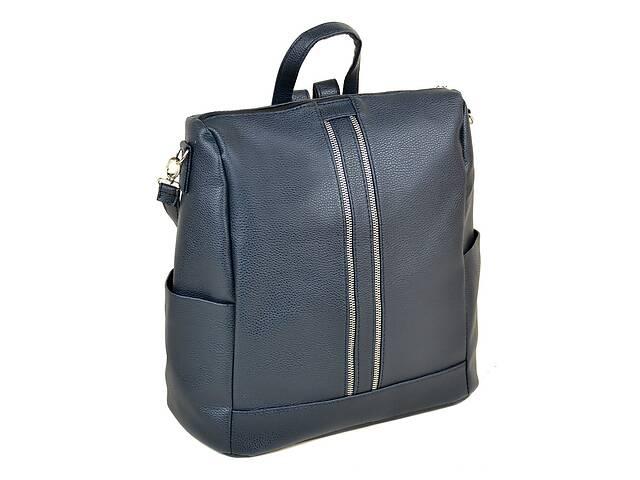 купить бу Женский рюкзак из искусственной кожи М 158 39 14 л синий в Киеве