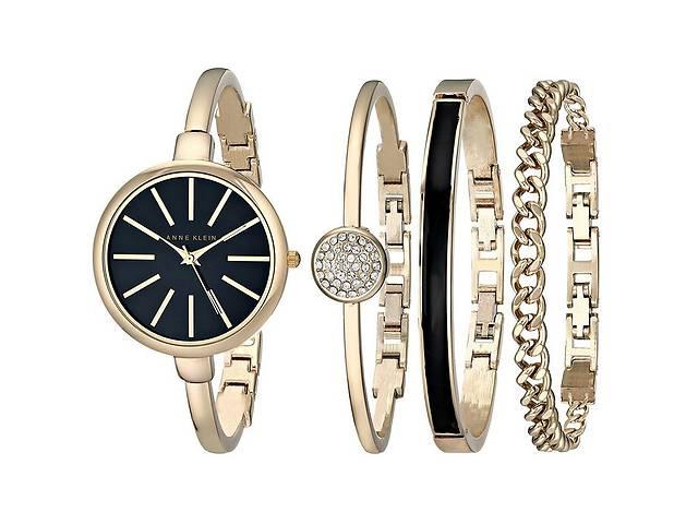 купить бу Часы в подарочной упаковке watch set Anne Klein Roze gold black - 131580 в Одессе