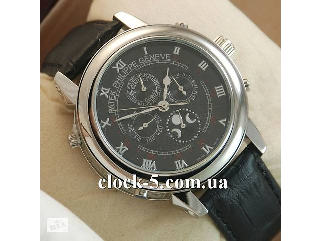 продам Купить часы patek philippe sky moon tourbillon gold black копию Art. cloc-78364890 бу в Харькове