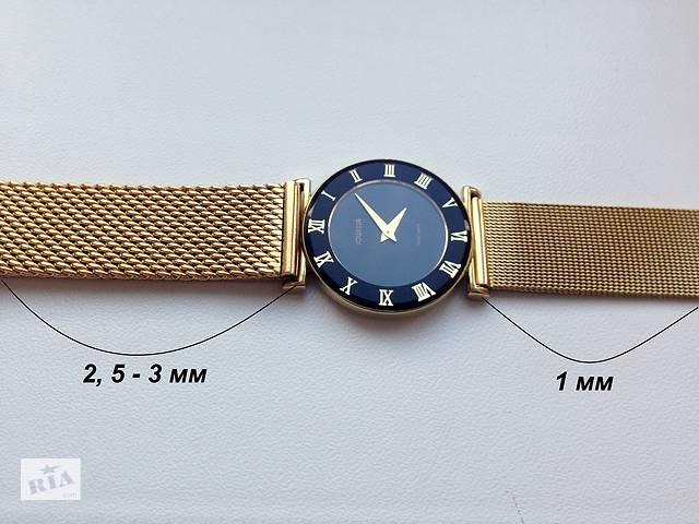 Миланский браслет ремешок для часов золотой/желтый (на женские часы)- объявление о продаже  в Киеве