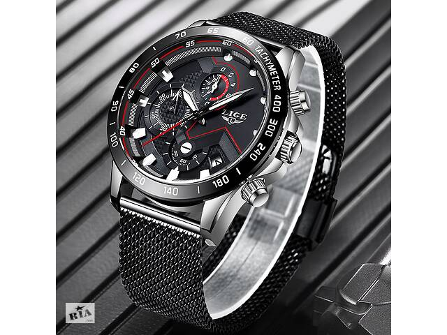 продам Наручные часы LIGE Black бу в Кривом Роге