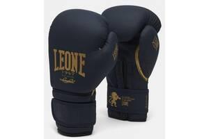 Боксерские перчатки Leone Mono Blue (500118) 16 ун.