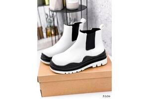 Ботинки женские Bale белые черный 36-40р
