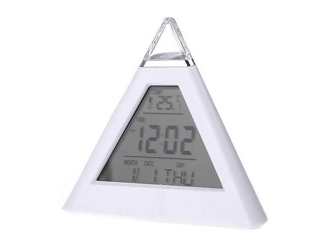 бу Часы будильник хамелеон в виде пирамиды Kronos (bks_01472) в Киеве