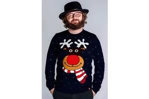 Чоловічий в'язаний светр різдвяний (55)