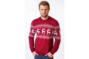 Чоловічий в'язаний светр різдвяний (79)