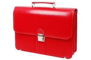 Деловой портфель женский из эко кожи AMO SST08 красный