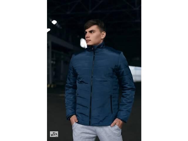 бу Демисезонная теплая синяя куртка Весна-Осень SKL59-259590 в Киеве