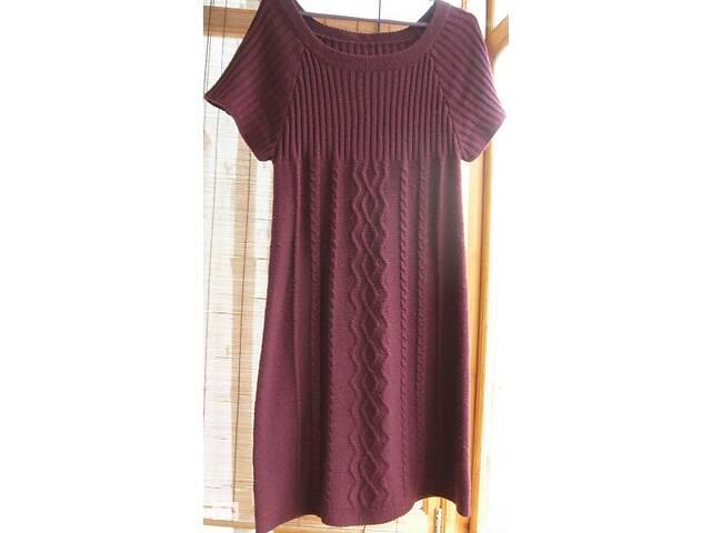 продам Демисезонная вязаная фиолетовая туника платье, 10 12, реглан, торг бу в Запорожье