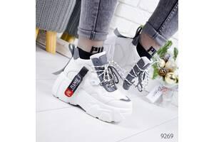 Демисезонные белые женские кроссовки в стиле Buffalo (маломерят) 37,40р