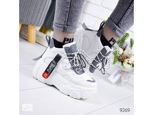 Демисезонные белые женские кроссовки в стиле Buffalo (маломерят) 37,40р- объявление о продаже  в Ровно