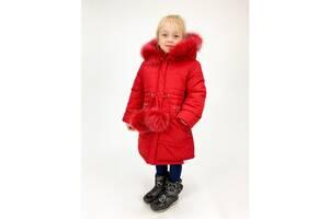 Детская зимняя куртка - пальто для девочек 3-6 лет, семь цветов