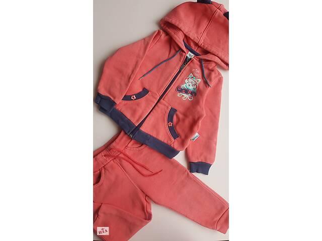 Детский спортивный костюм, для девочки, на флисе