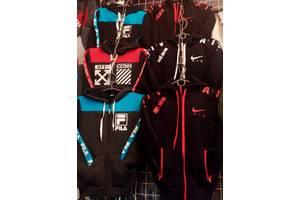 Детский утеплённый спортивный костюм на флисе , размеры 26- 48, цвета разные