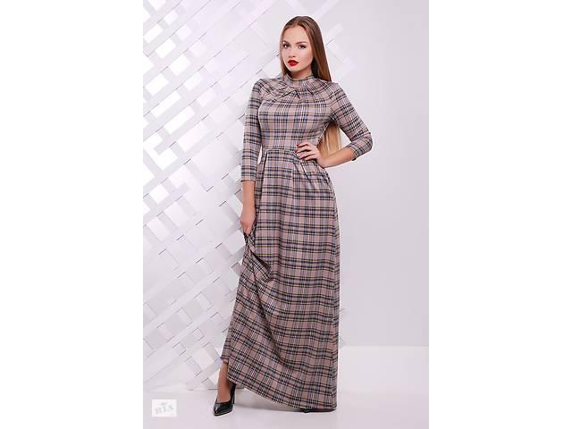купить бу Довге плаття в підлогу довга сукня maxi в клітинку до р. XL в 7fbca7976dfb5