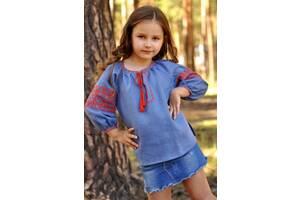 Детская блузка с вышивкой из тонкого льна