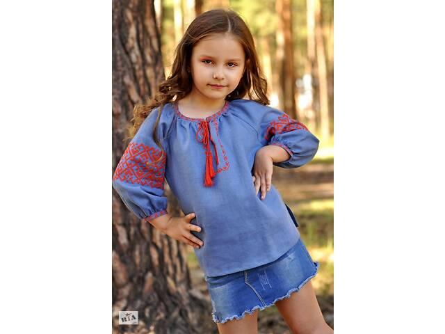бу Детская блузка с вышивкой из тонкого льна  в Украине