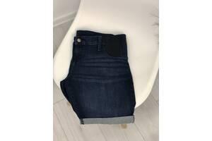 Джинсовые синие шорты для беременных темно-синие Isabel