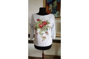 Ексклюзивна вишита блузка - Літні квіти