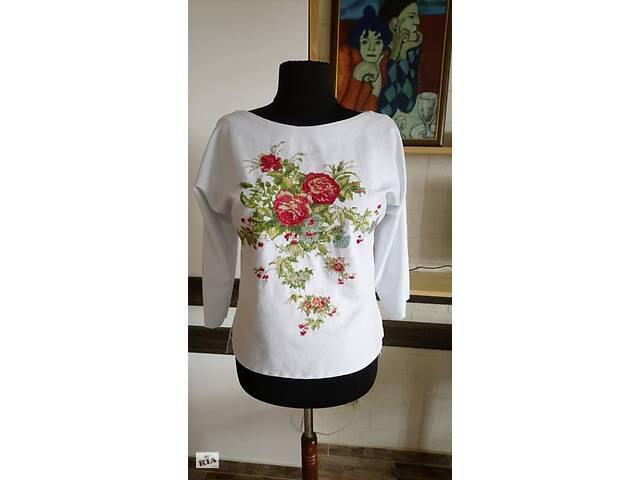Эксклюзивная вышитая блузка - Летние цветы- объявление о продаже  в Львове