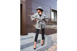 Ексклюзивне сіре жіноче пальто - в одному екземплярі