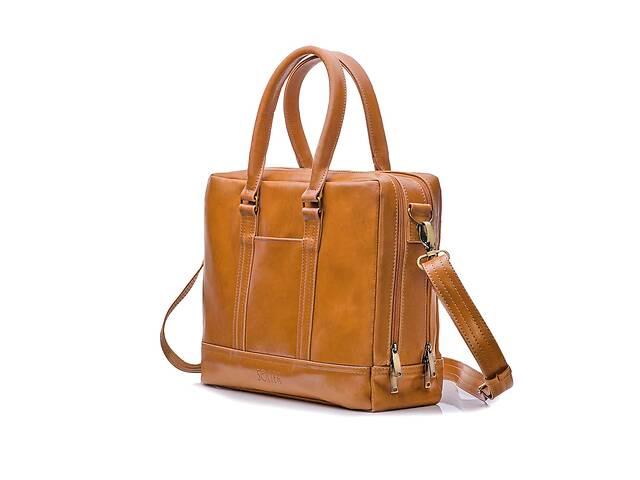 продам Элегантная кожаная сумка на плечо для ноутбука светло коричневая SlrSL02Camel бу в Киеве